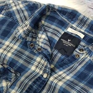 AEO Boyfriend Plaid Flannel